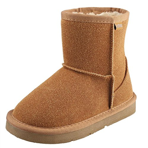 begorey Kinder Stiefel Gefütterte Boots Booties Winterstiefel Warme Watte Gepolsterten Schuhe Winterschuhe Schneestiefel Khaki