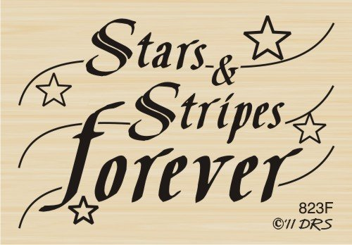 Stars Stripes Forever Rubber Stamp By DRS Designs