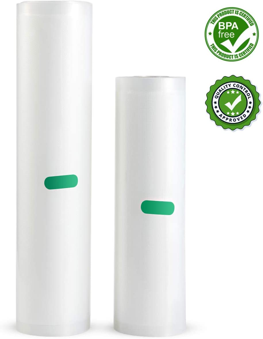"""ULTTY Vacuum Sealer Rolls Sous Vide Bar, 8""""X20' and 11""""X20' Rolls for Food Saver and Vacuum Sealer Machine"""