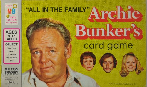 Archie Bunker's ''All in the Family'' Card Game by Milton Bradley