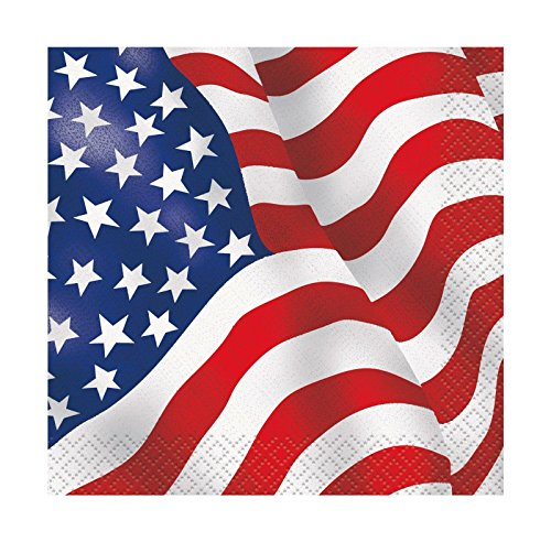 Olympic Theme Party Costume Ideas (US American Flag Beverage Napkins, 16ct)