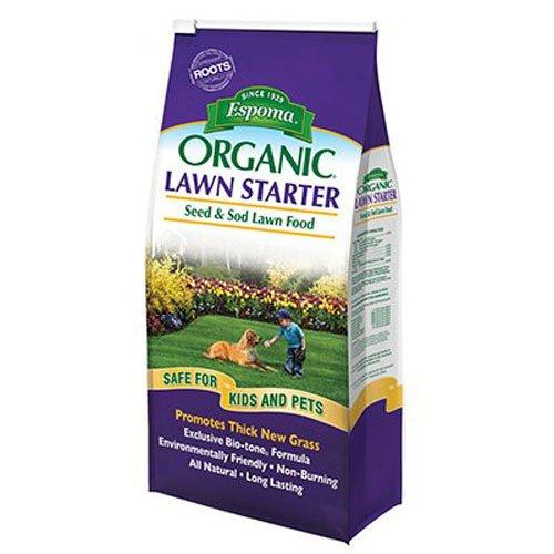 Espoma LS7 050197059077 Organic Lawn Starter Seed and Sod Food Fertilizer, 7.25 lb, N (Best Fertilizer For New Sod)