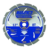 IRWIN Tools Fiber Cement PCD Circular Saw Blade, 12-Inch, 8T (4935625)