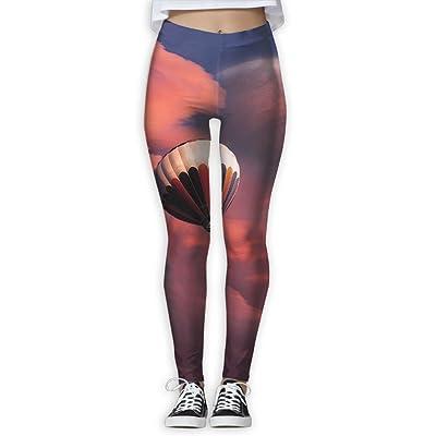 TIA HICKS Women's Red Sky Air Balloon Yoga Pants Compression Comfy Yoga Capris Power Flex Running Pants Workout Leggings