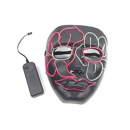 PROKTH Mascara led Hombre Disfraz la Purga Mujer Mascaras de la Purga Terror Mascaras de Halloween