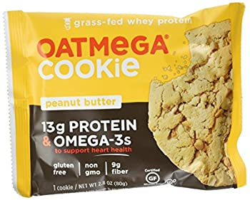 Oatmega Protein Cookie, Peanut Butter, 12 Count