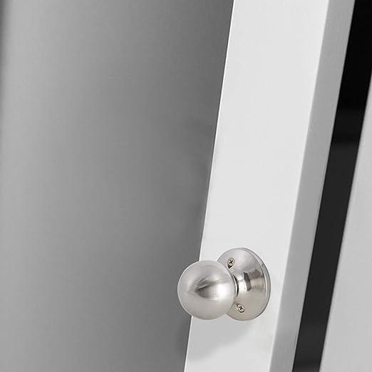 Poign/ée de porte ronde Probrico Nickel bross/é Diam/ètre de la base 65/mm Acier inoxydable