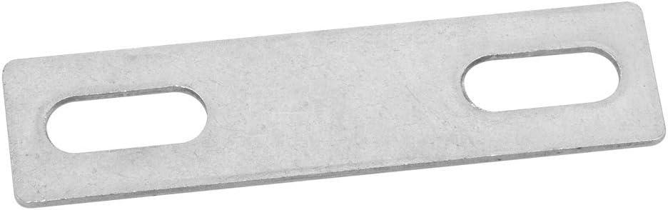 Silber M7191011070 Yibuy Silver 304 Edelstahl Vierkant U-Schrauben mit Plattenmuttern Set M8