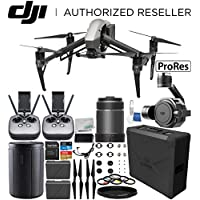 DJI Inspire 2 Quadcopter (Apple ProRes Licenses Included) with Zenmuse X7 Camera, 24mm f/2.8 ASPH LS Lens & Extra Remote Controller Transmitter Bundle