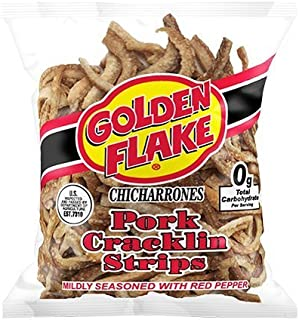 product image for Golden Flake Pork Cracklins W/Red Pepper Seasoning 3.25 oz (Pack 4)