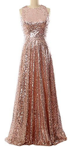Gown Maxi Women Formal Of Bride The Dress Party Mother Rose Macloth Gold Evening Sequin qXZw66H