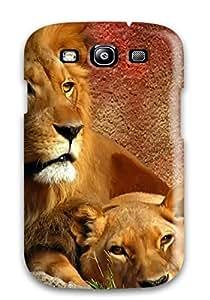 Galaxy Cover Case - Lions Widescreen Protective Case Compatibel With Galaxy S3 wangjiang maoyi