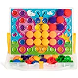 Button Mosaic Transperent Pegboard with 48 Buttons and 16 full colored pictures