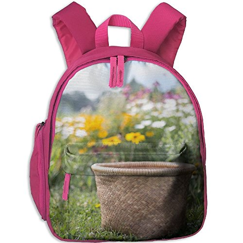 Toddler School Bag Flower Wood Floor Design Material Flower Natural Background Material Design Shoulder Bag Pink