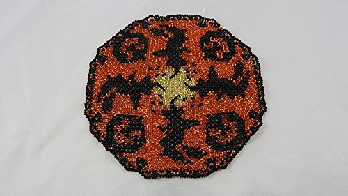 - Beaded doily Halloween