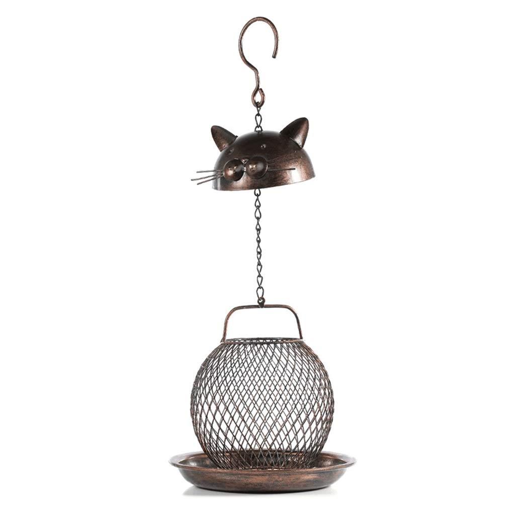 Xilinshop-Mangiatoia Xilinshop-Mangiatoia Xilinshop-Mangiatoia Uccellis Gabbia per Uccelli Decorativa all'aperto Fatta a Mano Creativa dell'alimentatore per Uccelli a Forma di Gatto Creativa cbdf3e