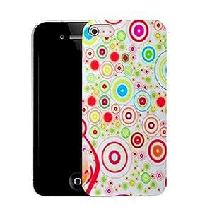 Caso móvil Case iPhone 4 en silicona parachoques y lápiz - campechano (silicio) patrón floral