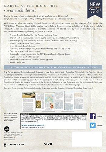 NIV, Biblical Theology Study Bible, Leathersoft, Tan/Brown, Comfort