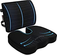 FORTEM Chair Cushion, Seat Cushion for Office Chair, Lumbar Support Pillow for Chair, Car Seat Cushion, Back S
