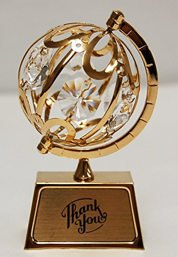 """Thank You"" 24k Gold Plated Spinning Globe Free"