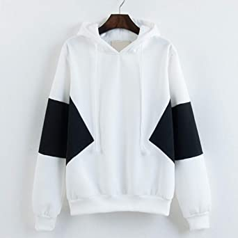 OCEAN-STORE Women Autumn Long Sleeve Patchwork Sweatshirt Pullover Sweaters for Women Blouse Tops T-Shirt Shirts at Amazon Womens Clothing store: