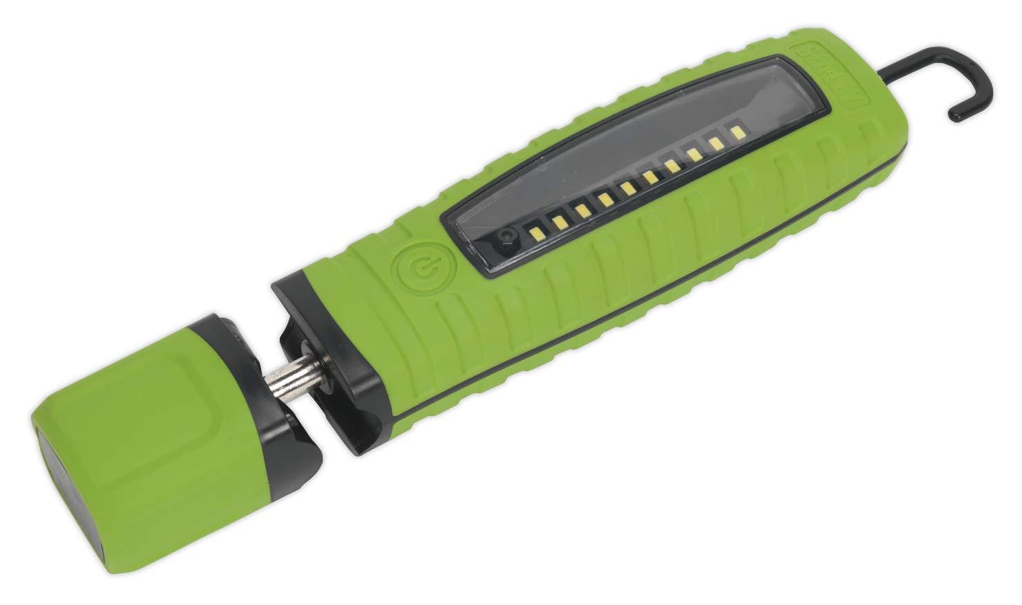 360° 10, SMD LED 3 W LED, wiederaufladbar, Lithium-Ionen, Grün