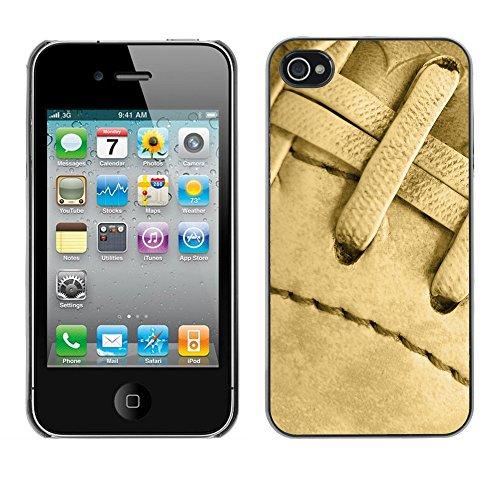 Hülle Case Schutzhülle Cover Premium Case // V00002578 Fußball // Apple iPhone 4 4S 4G
