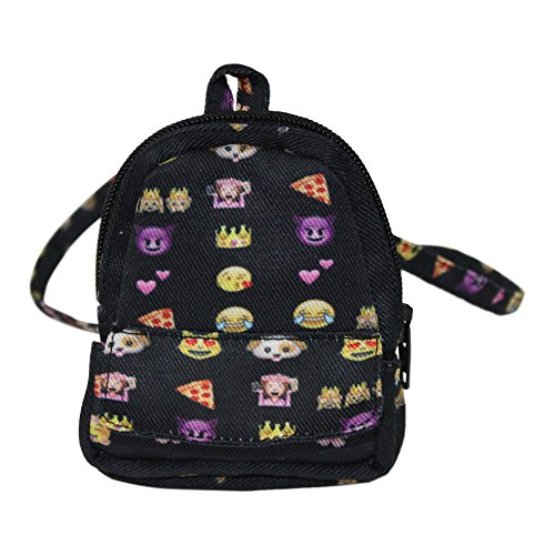 Ari and Friends Fits American Girl 18 inch Dolls - Emoji Fun Zippered BACKPACK - 18 Inch Doll accessories - Designed In USA to Fit 18 inch dolls - Great (Fun Backpacks)