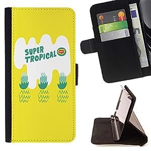 Dragon Case - FOR Samsung Galaxy S6 EDGE - super tropical - Caja de la carpeta del caso en folio de cuero del tir¨®n de la cubierta protectora Shell