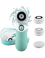 KOOVON Face Brush with 3 Facial Cleansing Brush Heads...