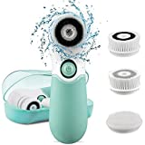 KOOVON Face Brush with 3 Facial Cleansing Brush Heads,Waterproof Electric Spin Cleansing System and...