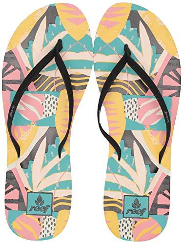 (Reef Women's Bliss-Full Flip-Flop, Tropical Aqua, 090 M US)
