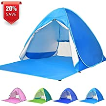 BATTOP Automatic Pop Up Beach Tent Sun Shelter Cabana 2-3 Person UV Protection Beach Shade Beach Umbrella for Outdoor Activities