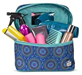 Caboodles Glam Squad Large Soft Train Case Blue Medallion Blue Medallion