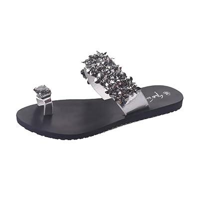 Beautyjourney Sandales Art Femme, Sandales en Cuir Les Femmes Flips Flop Sandales  Chaussures D  c58a29044760