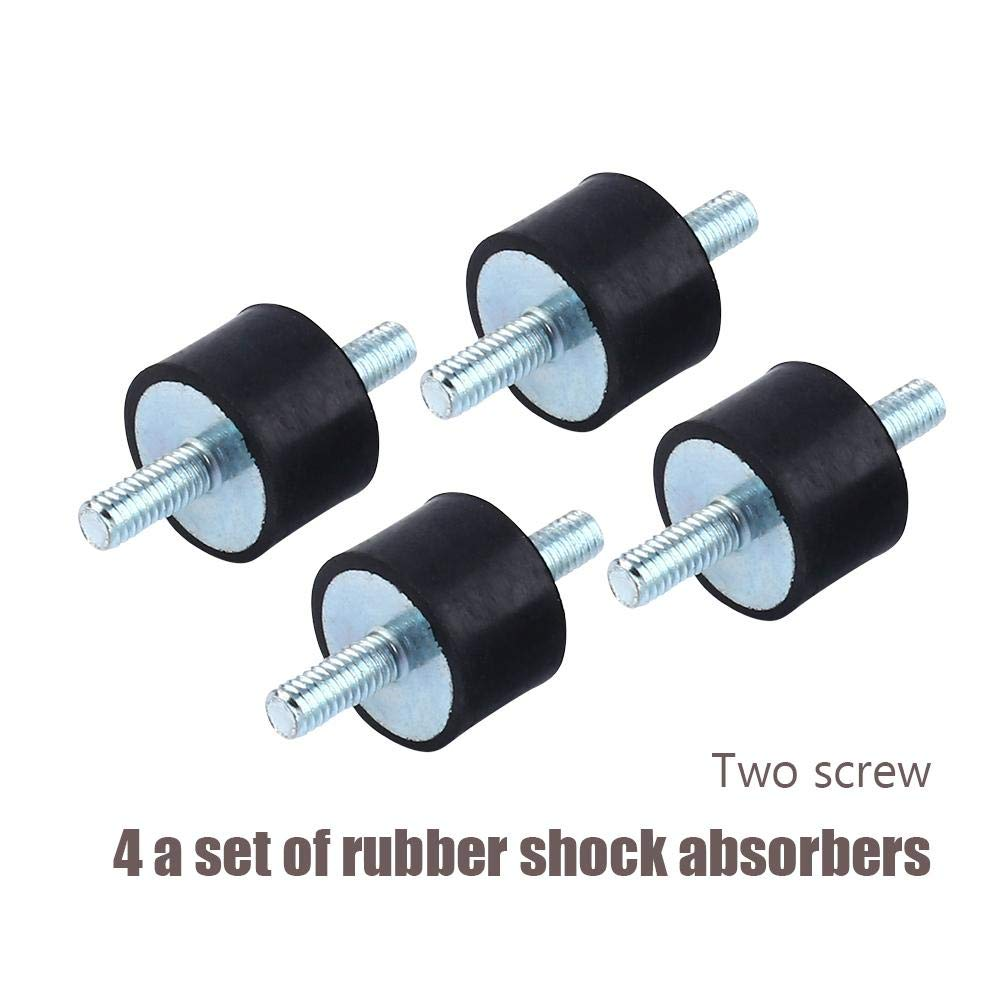 10 Anti-Vibration Rubber Isolator Mounts Air Compressor Pump Shock Absorber with Screws 4pcs M4 15
