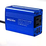 Bapdas 150W Car Power Inverter DC 12V to AC 110V With 3.1A 2 USB Ports for Laptop, Tablets,phones, Razor,Electric drill and So On-Blue