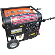 Powerland PD3G10000E 10,000 Watt Tri-Fuel 16 HP Gas/Propane/Natural Gas Powered Portable Generator With Electric...