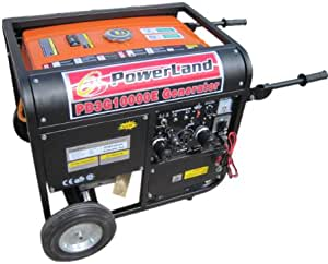 Powerland PD3G10000E 10,000 Watt Tri-Fuel 16 HP Gas/Propane/Natural Gas Powered Portable Generator With Electric Start