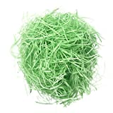 FITYLE 20g/Bag High Quality Filled Artificial Grass Raffia Paper DIY Dry Straw Gifts Box Filling Candy Box Filler Fill Accessories Wedding Party Easter Party Supplies - green, as described