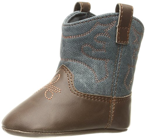 Natural Steps Boys' Lil Creed Boot, Brown, 3 M US Infant