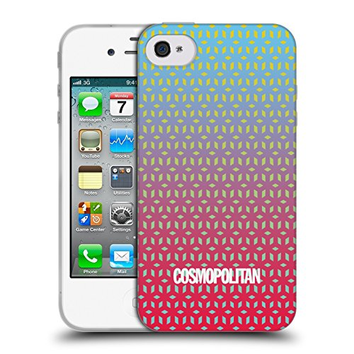 Official Cosmopolitan Ombre 7 Fun Summer Soft Gel Case for Apple iPhone 4 / 4S