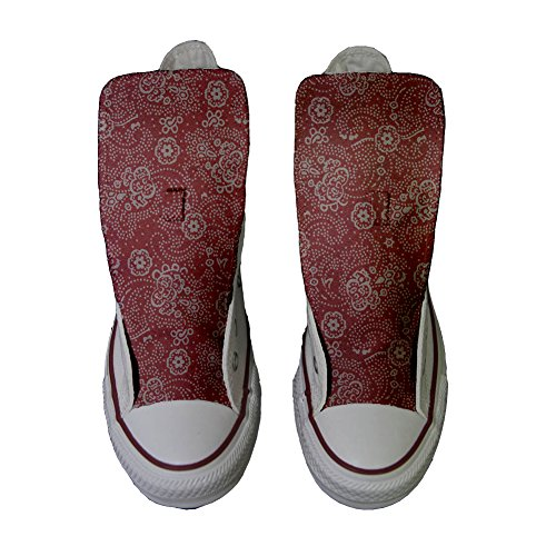 Paisley Schuhe Red Schuhe Hi Star All Customized personalisierte Converse Handwerk gzwqvB0x