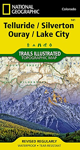 Telluride, Silverton, Ouray, Lake City (National Geographic Trails Illustrated - Map Colorado