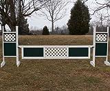 1 Center Panel Lattice Gate 12ft - 24 inch White