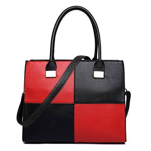 Cabas Miss Black Lulu amp;Red pour femme 1504 Hx5AqFgx