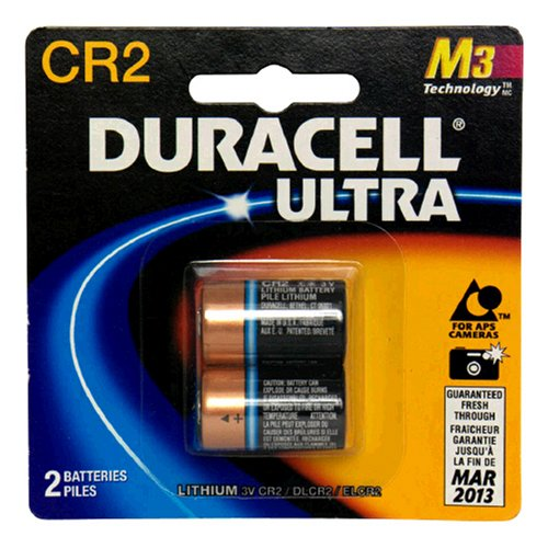 (Duracell Ultra Lithium Battery 3V, CR2, 2 Batteries (Pack of 2))