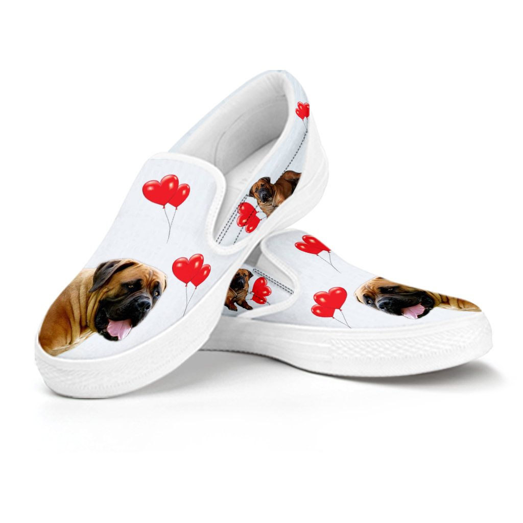 for Boerboel Dog Lovers E/&E Solutions Boerboel Dog Print Slip Ons Shoes for Women