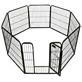 BestPet Heavy Duty Pet Playpen Dog Cat Fence B Exercise Pen, 32'' H x 31'' W (32-Inch)
