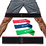 PHERAL FIT Exercise Hip Band - Hip Circle Band + 3 Resistance Loops INCLUDED - Hip Abductor - Hip Resistance Band For Legs - Glute Exercise Band - Squat Band - Booty Band